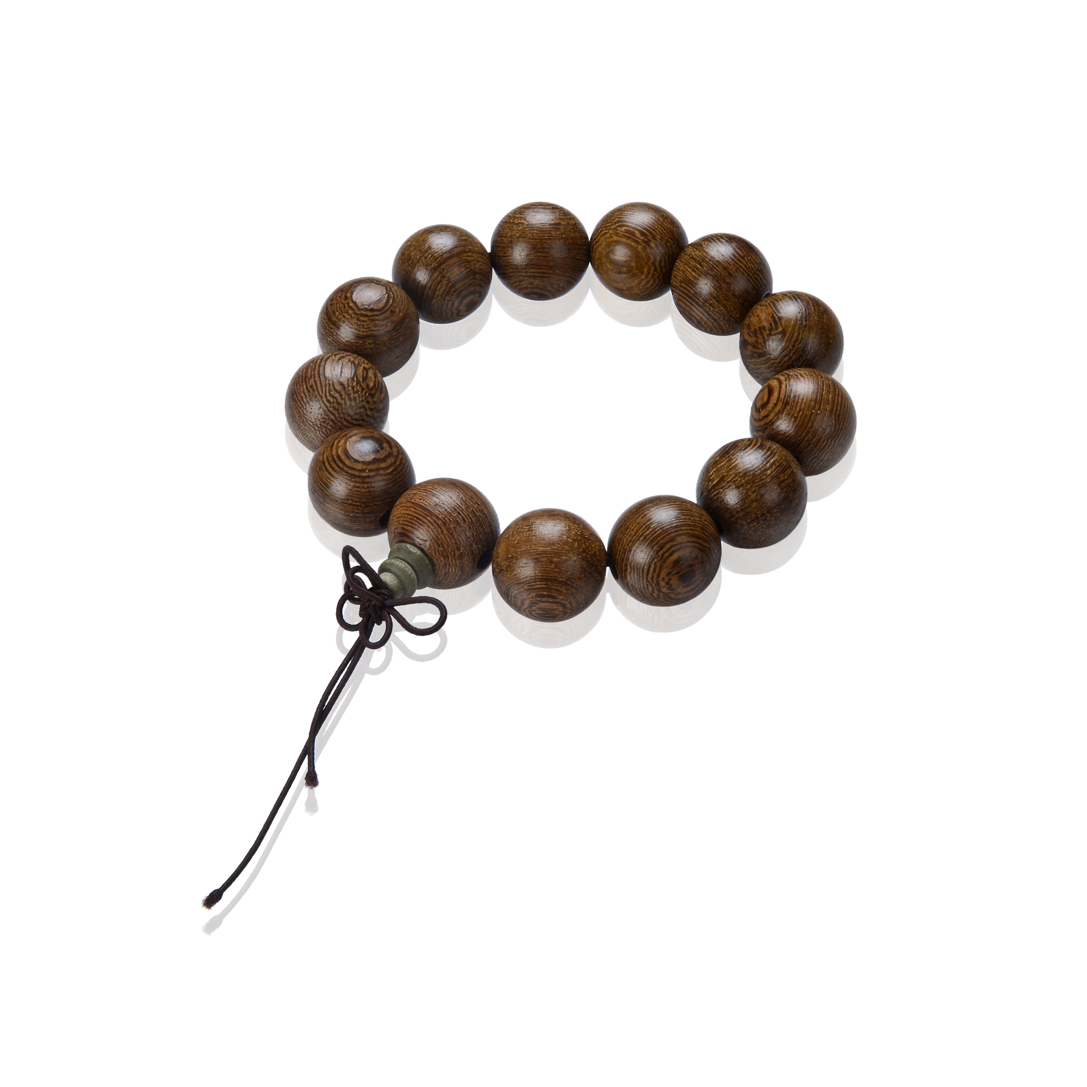 18mm Elastic Sandalwood Buddist Prayer Bead Bracelet  SKU#: br-tx5