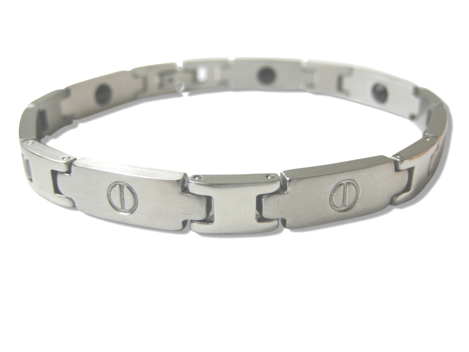 Titanium Magnetic Stainless Steel Bracelet - Various length - f-br1