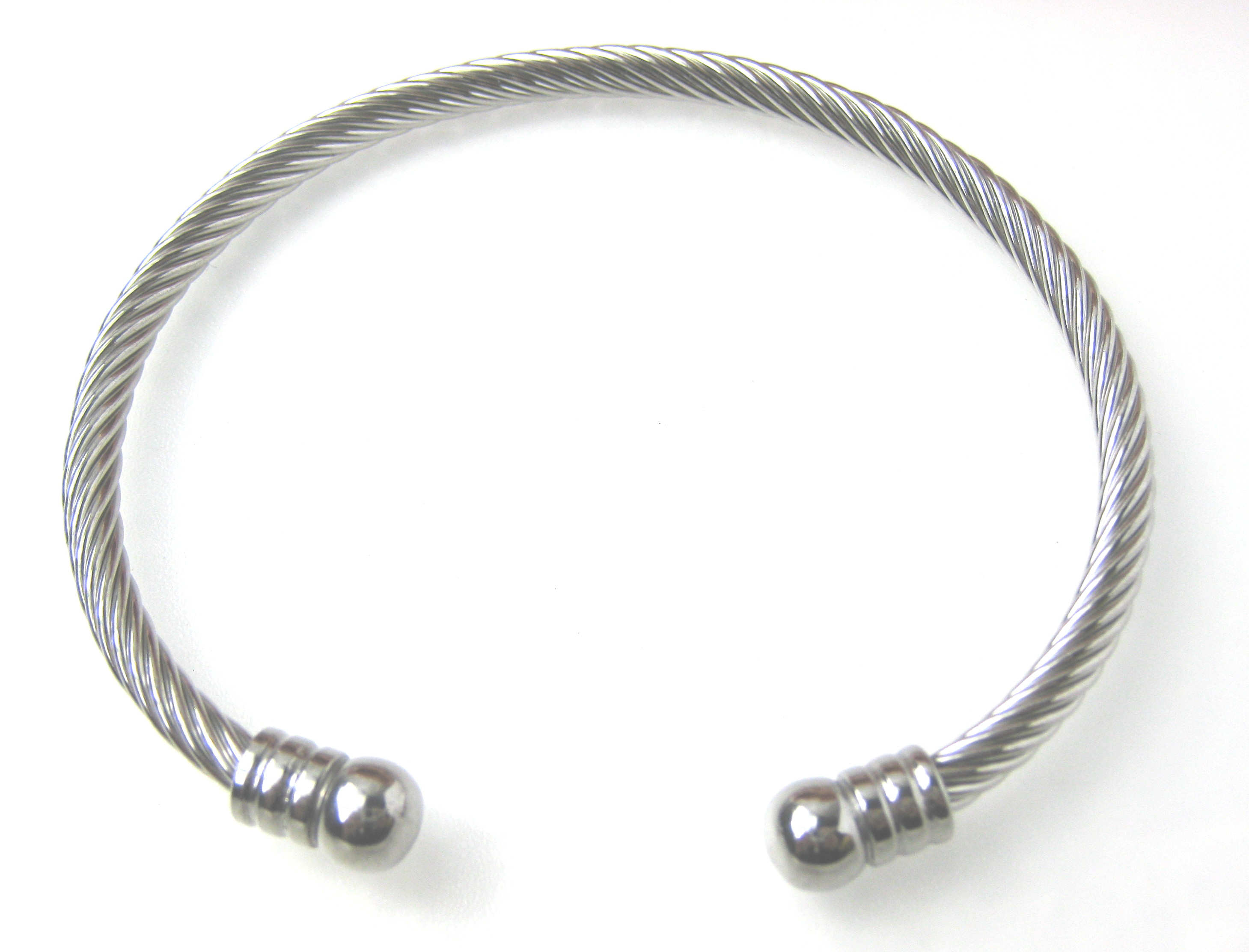 Stainless Steel Bangle Bracelet - f-br7
