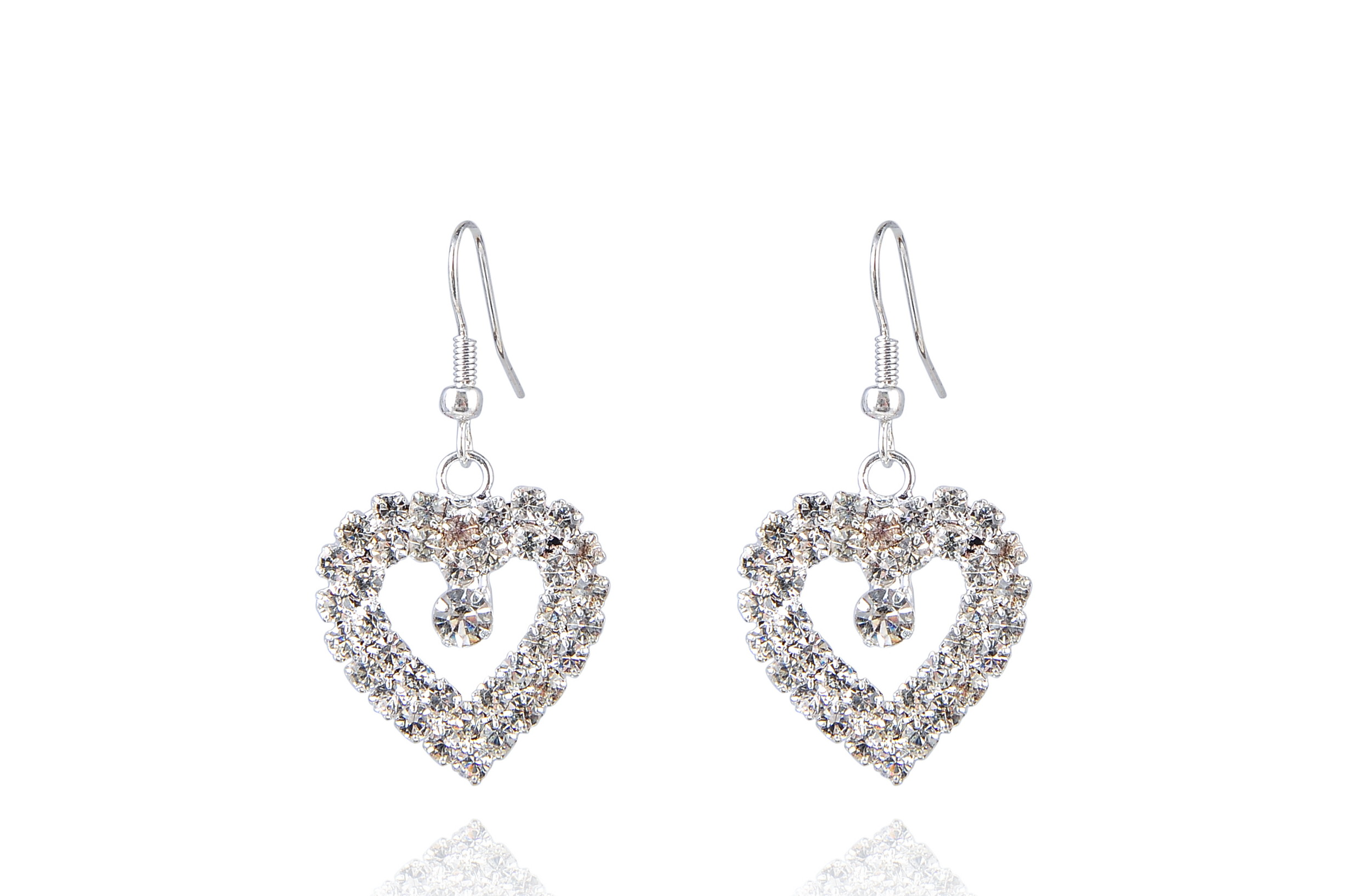 Austrian Crystal Dangle Earrings - f-er1
