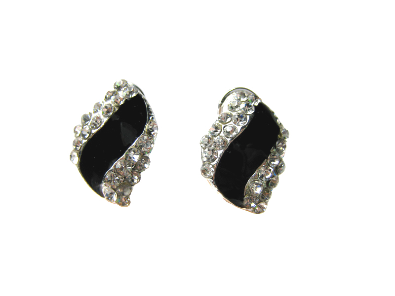 Austrian Crystal Leverback Earrings - f-er4