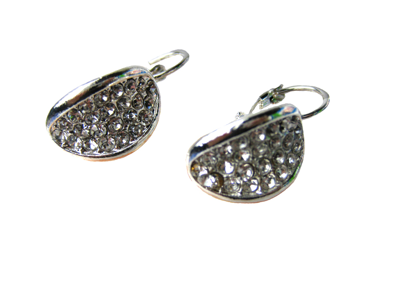 Austrian Crystal Leverback Earrings - f-er6