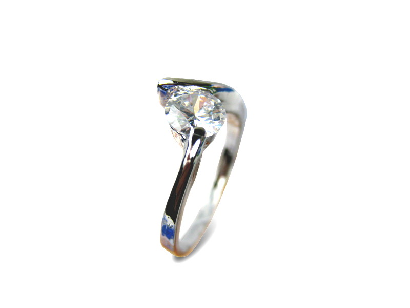 Diamond Cz Solitaire Ring - Various sizes - f-rg1b