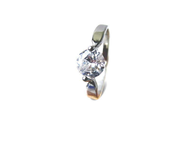 Diamond Cz Solitaire Ring - Various sizes - f-rg1c