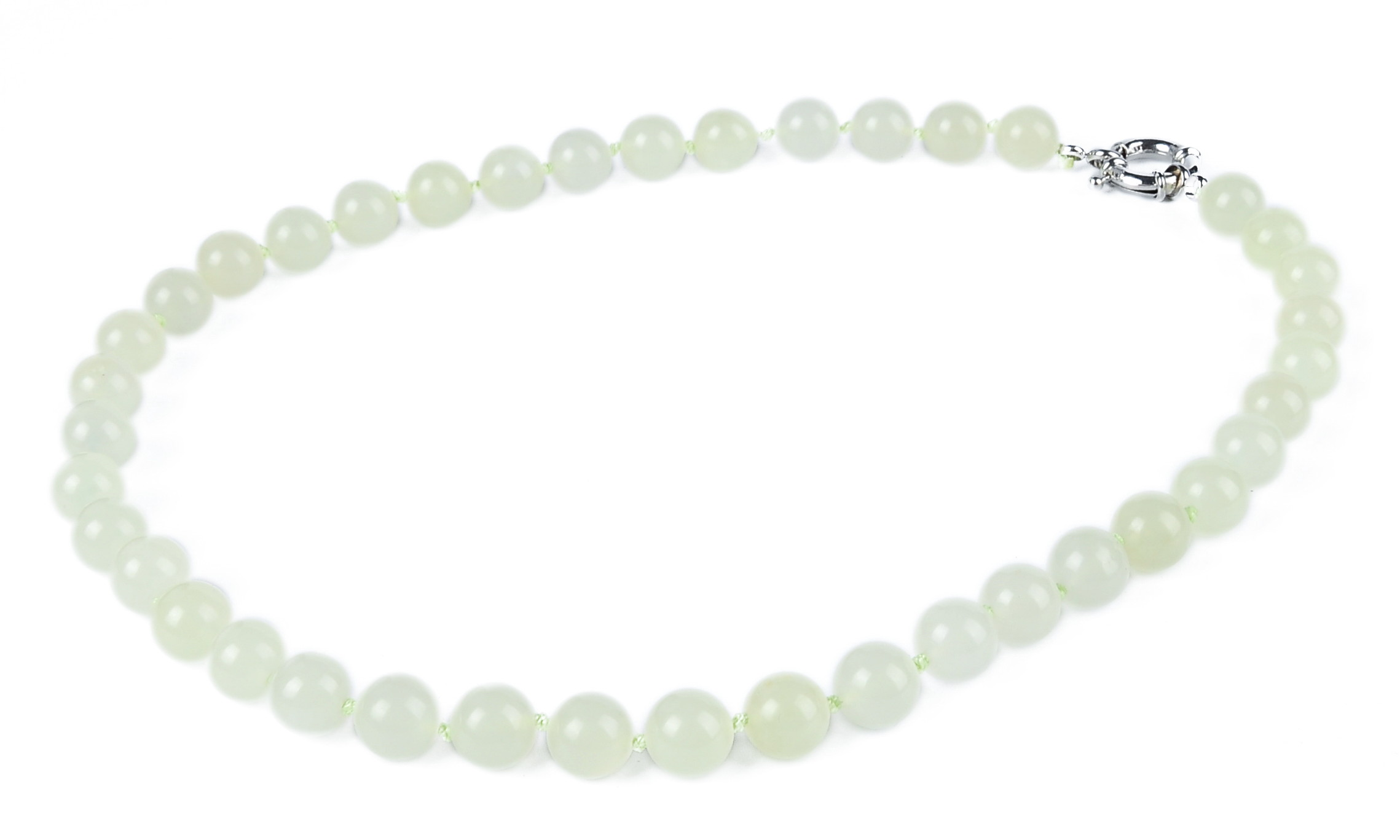 Natural Cream Chinese Jade Necklace -nk-jd17