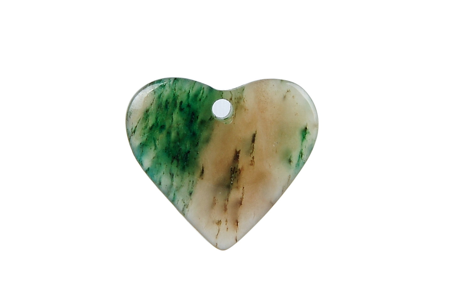 Green Jade Heart Pendant Locket -pn-jd2