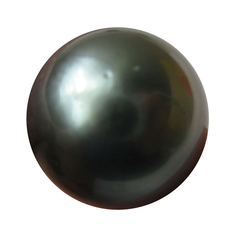 13 mm AAA- Half Drilled Black Tahitian Loose Pearl Beads- 1 Pcs -ls323