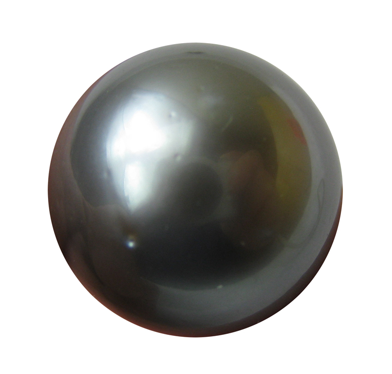 13.5 mm AAA- Undrilled Black Tahitian Loose Pearl Beads- 1 Pcs -ls324
