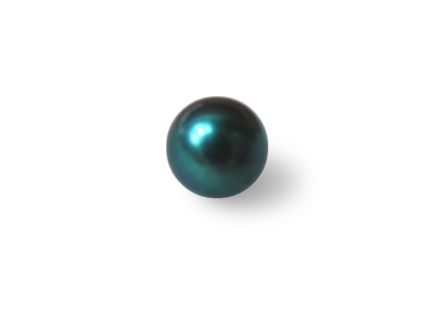 7 mm AAA+ Half Drilled Akoya Black Pearl Bead - 1 Pcs -ls4