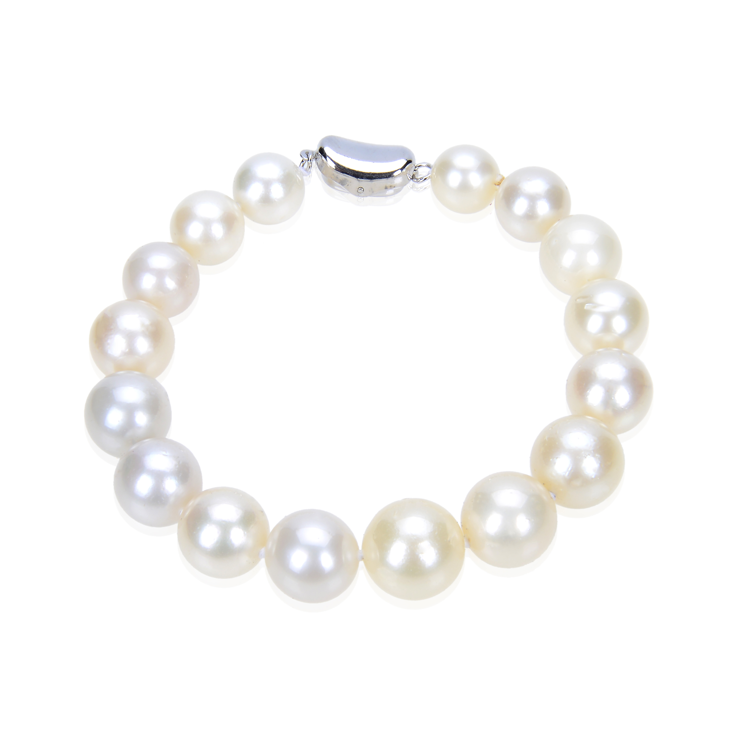 Huge 12.5 mm Natural South Sea White Pearl Bracelet -br128