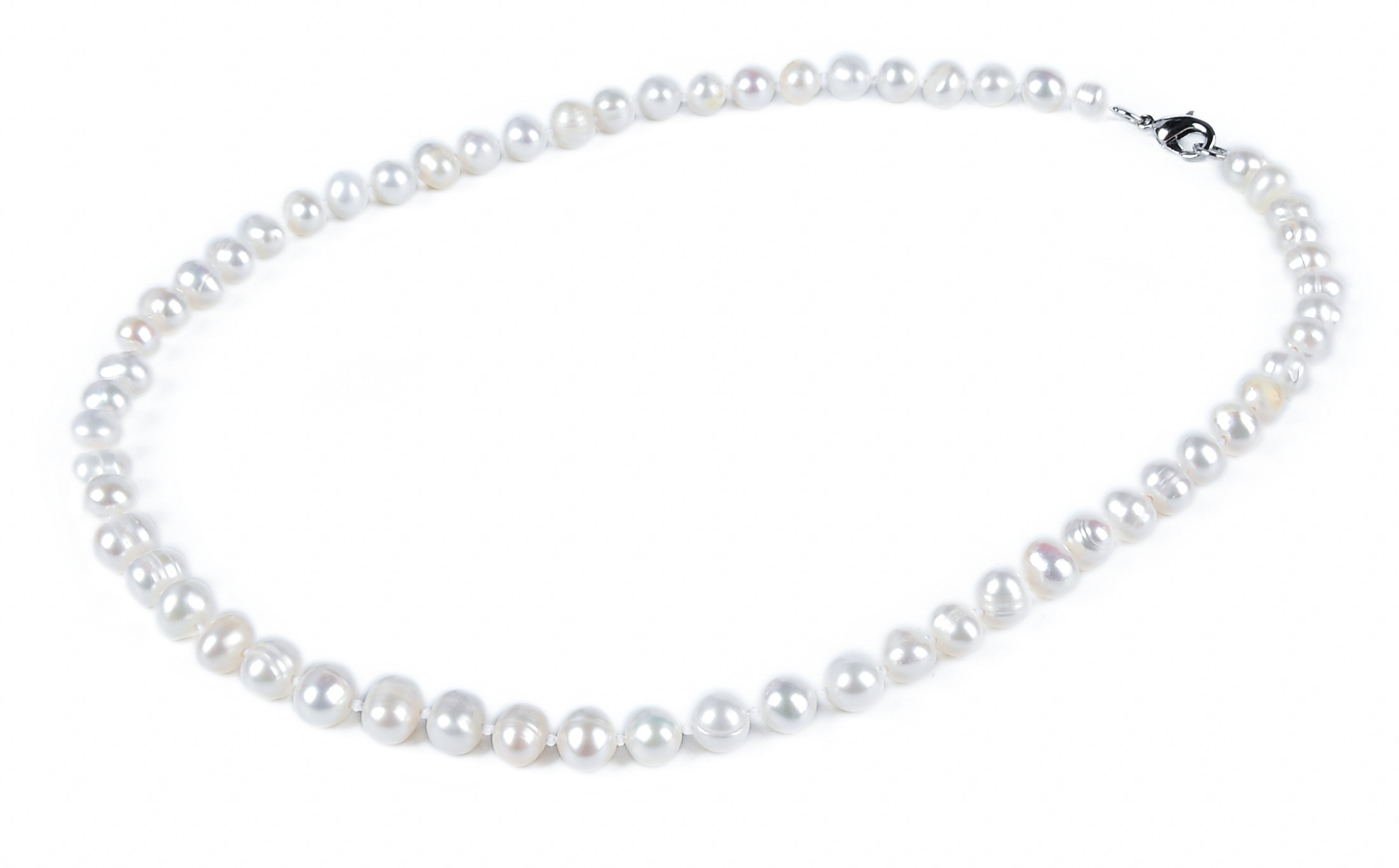 6.5 mm White Freshwater Pearl Necklace -nk103