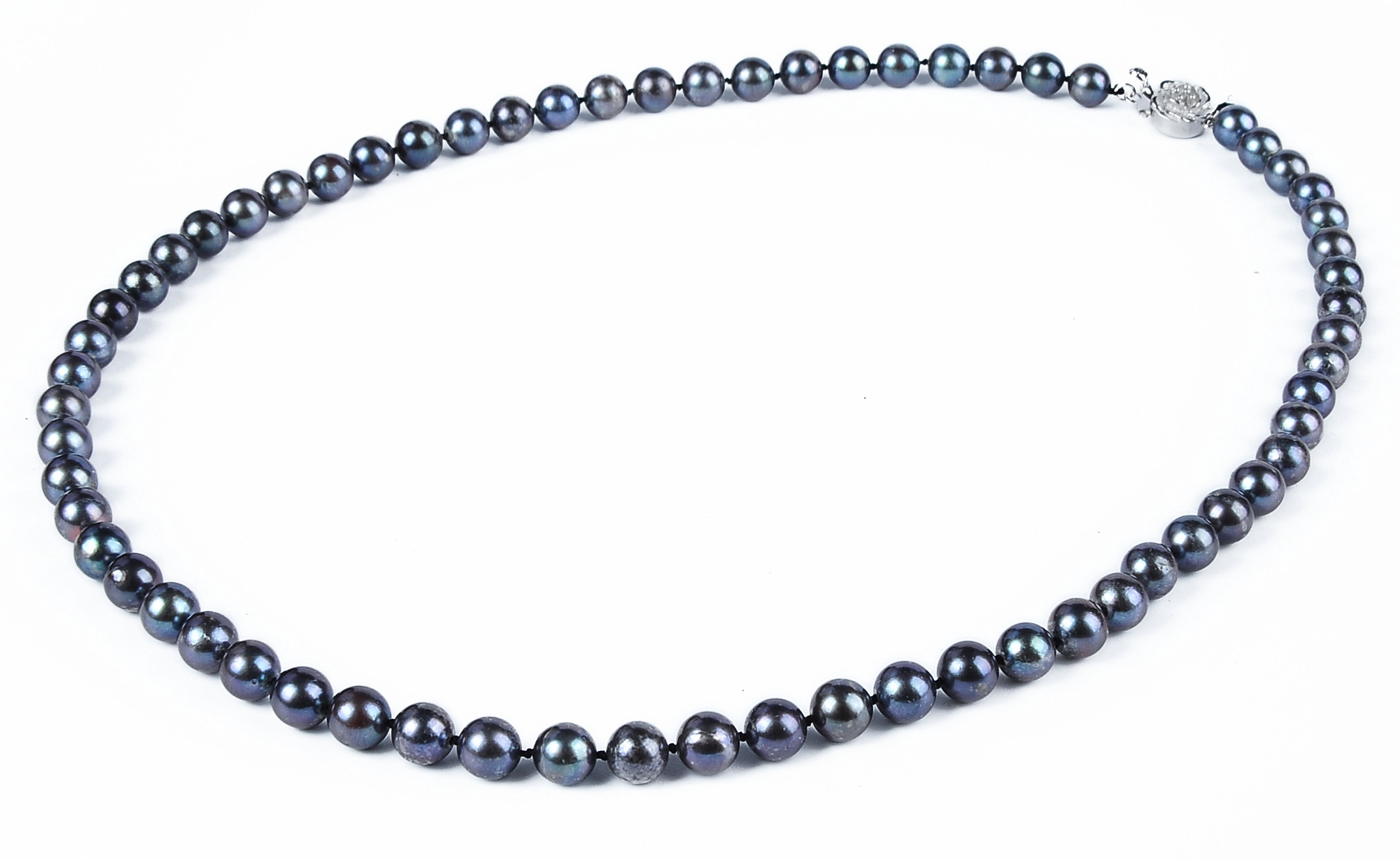 6.5mm AA+ Black Akoya Cultured Pearl Necklace Sku#: nk115