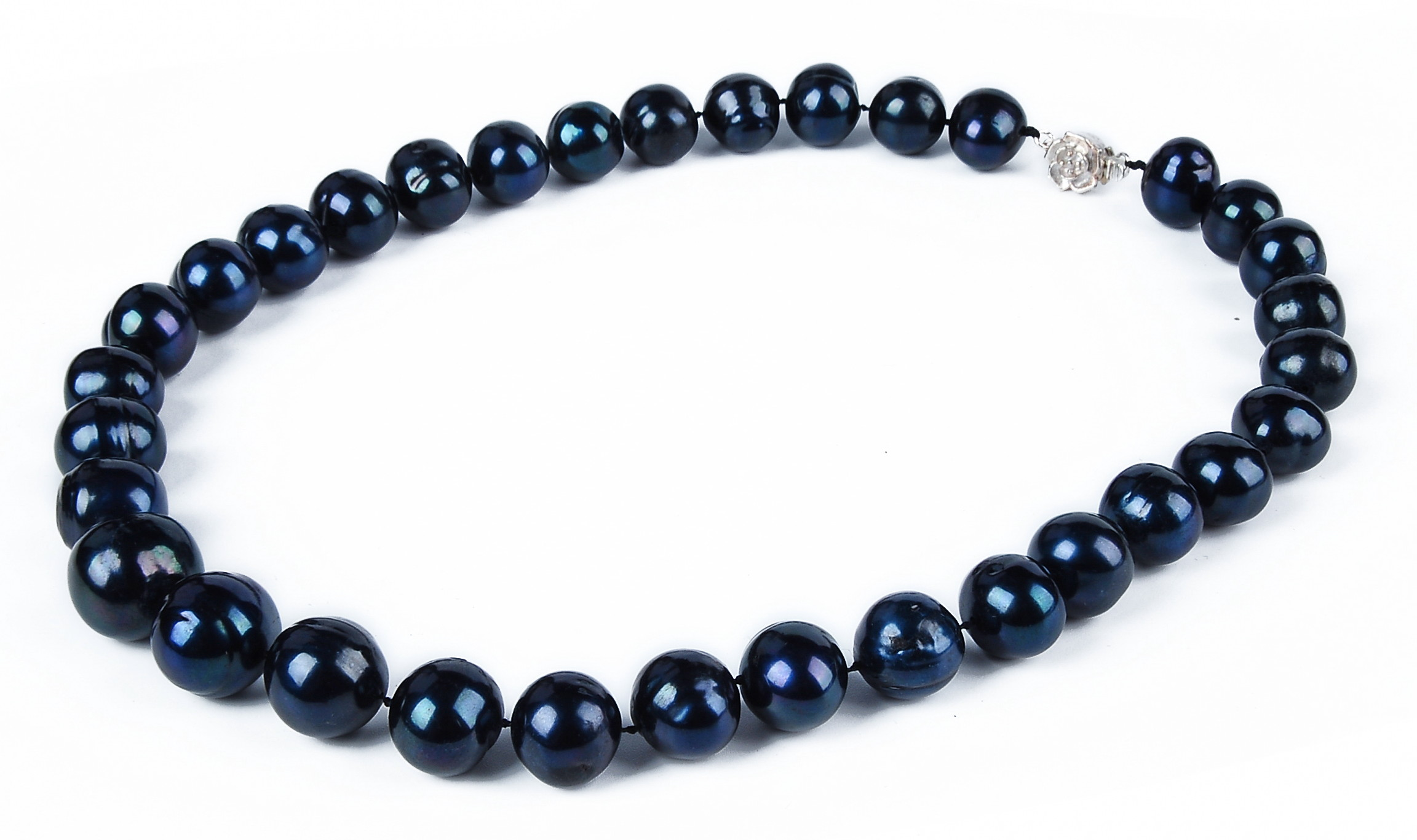 Huge 16mm AA+ Lustrous Black Freshwater Pearl Necklace -nk128