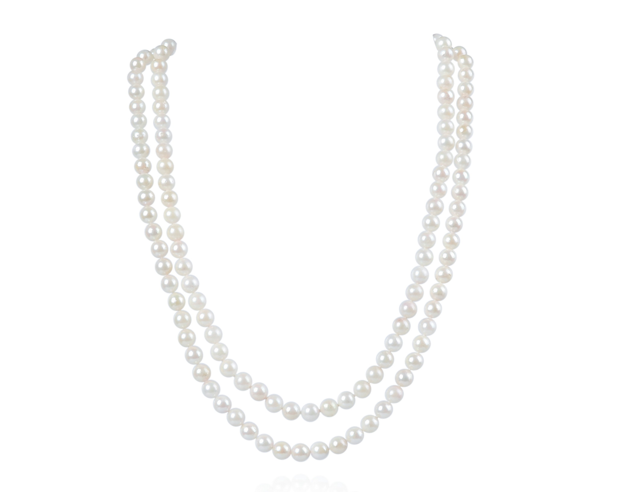 2 Strand AA- Saltwater Cultured Akoya Pearl Necklace -nk256