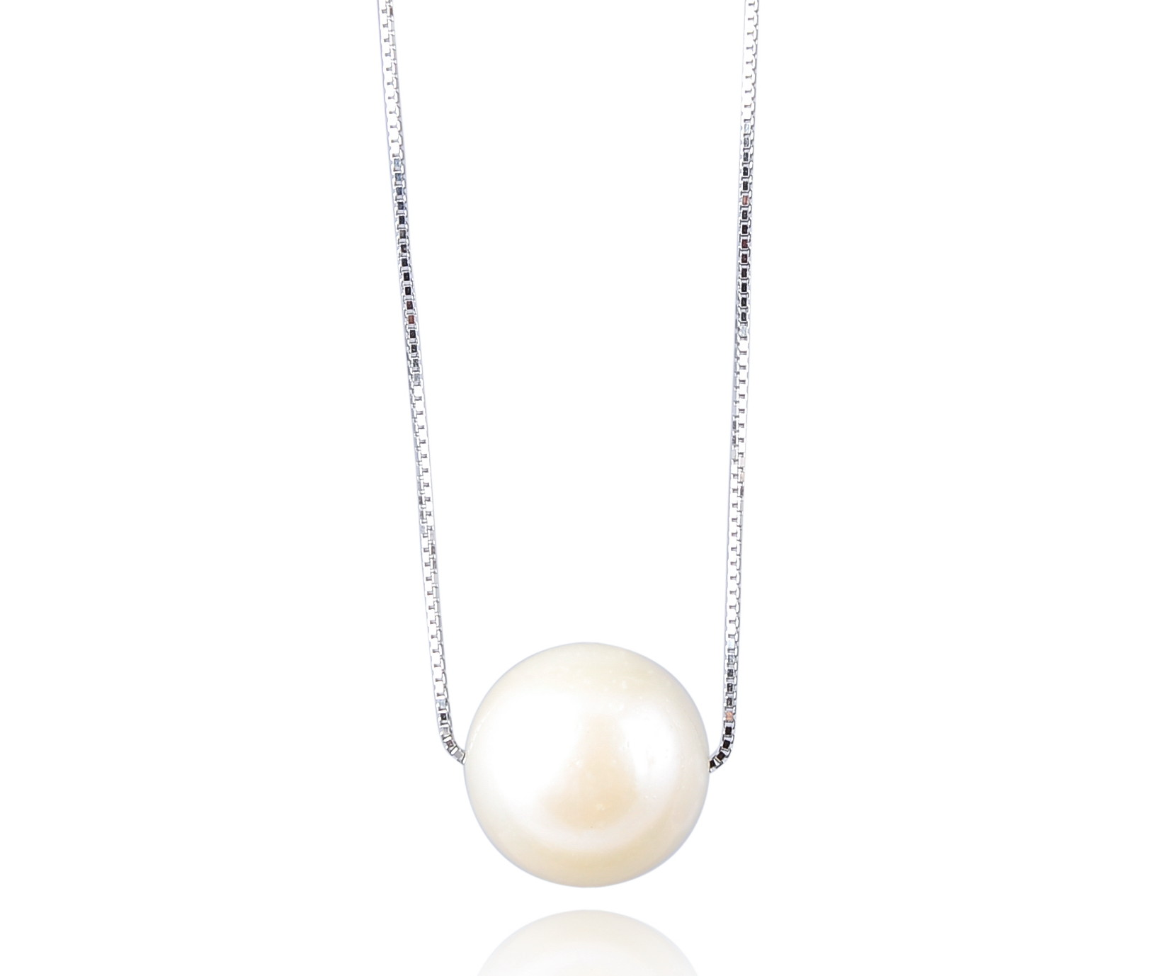 Huge 13.5 mm AA- Cream South Sea Pearl Solitaire Necklace -nk263