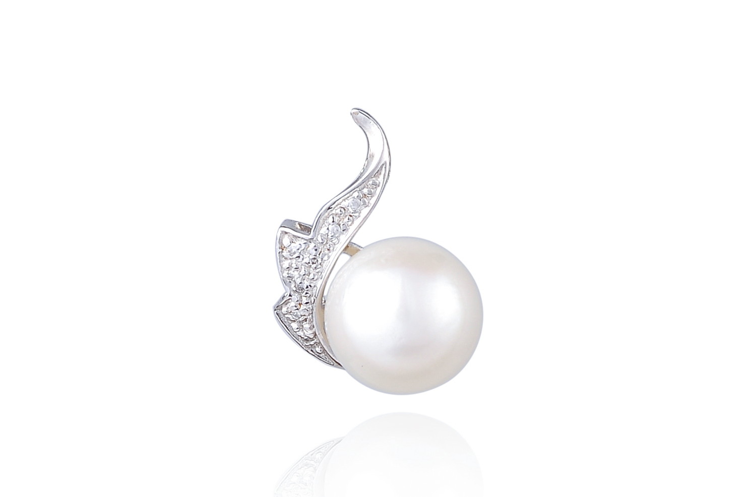 12mm AA+ White South Sea Pearl Pendant -pn26