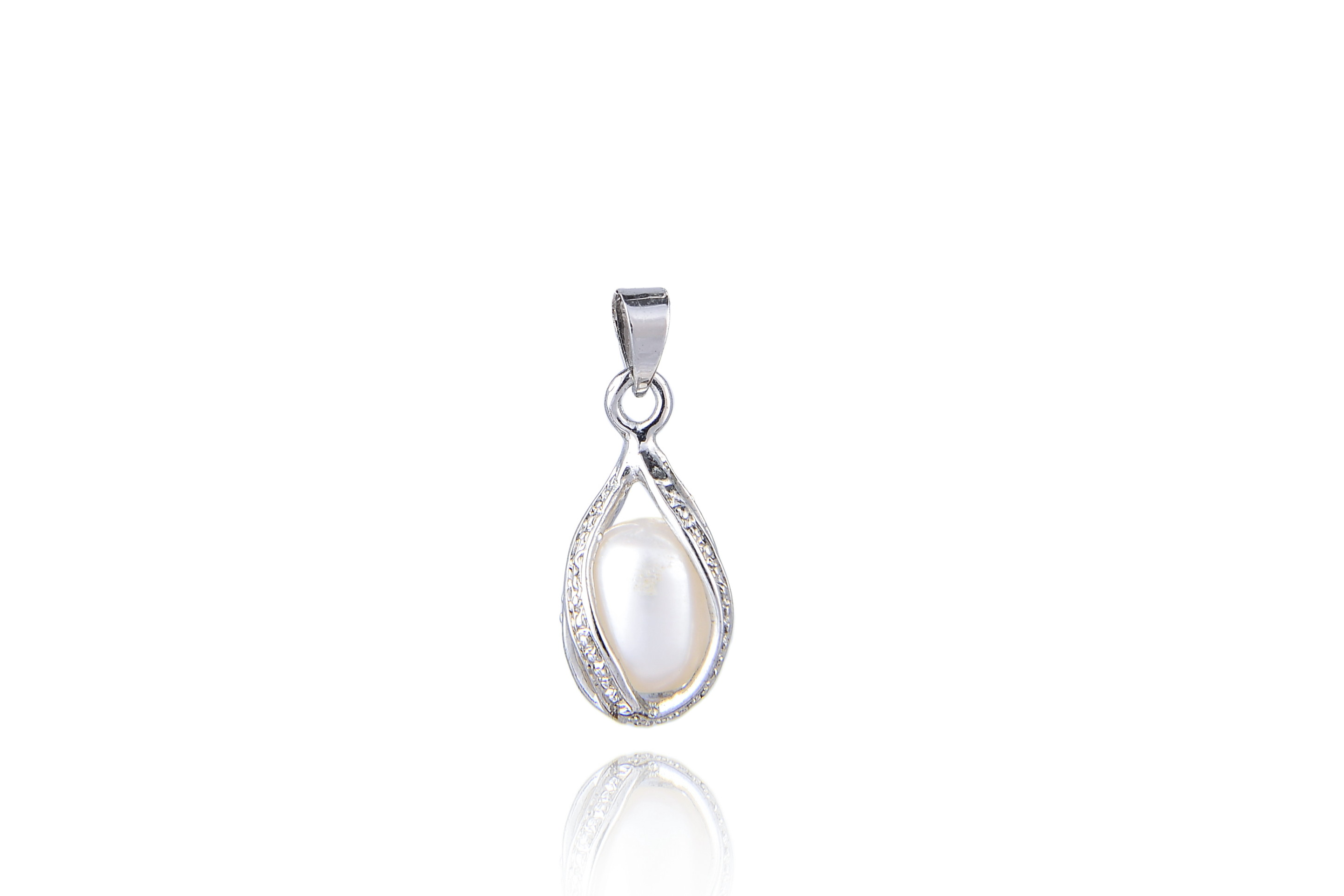 White Freshwater Cultured Pearl Locket Pendant -pn69