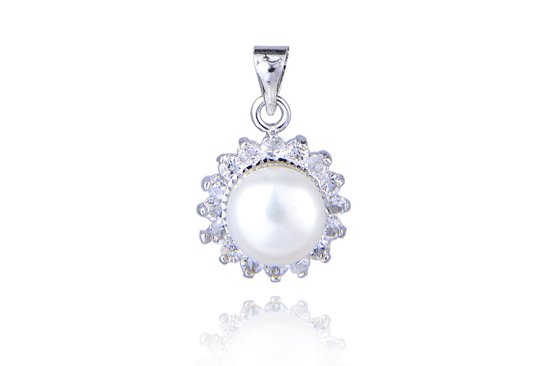 Freshwater Pearl Crystal Pendant Locket - various colors - pn70