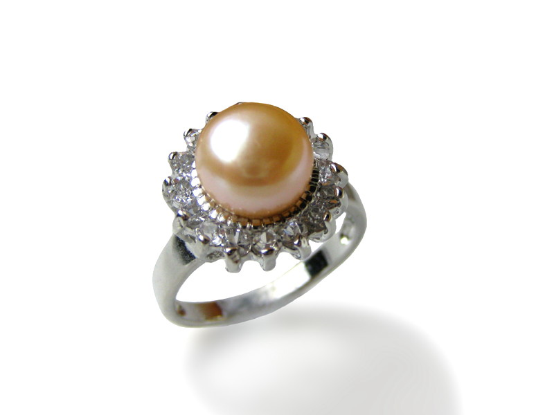 Natural Pink Freshwater Pearl Ring - Various sizes -rg42