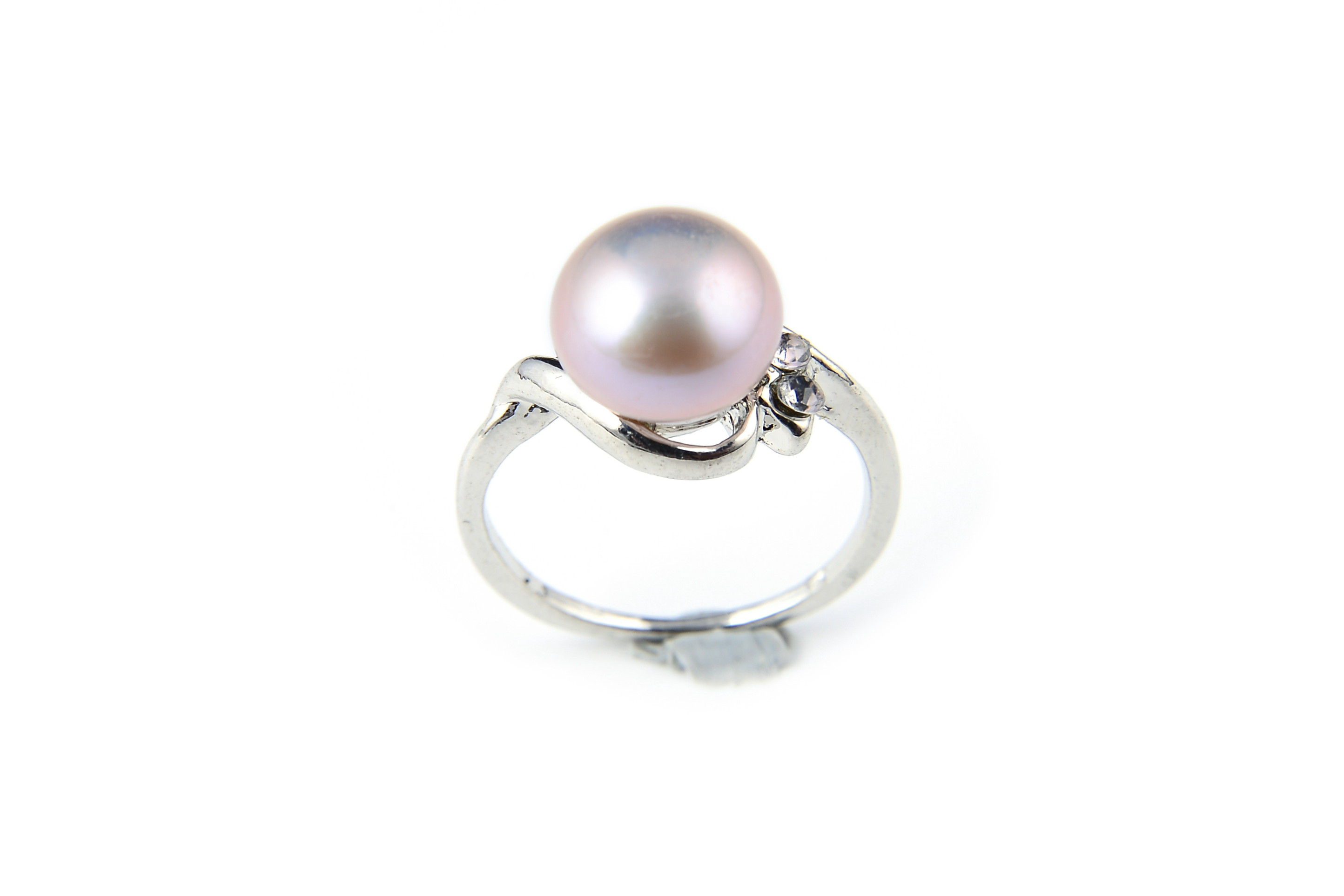 9mm AAA Lavender Freshwater Cultured Pearl Ring - Various sizes -rg61