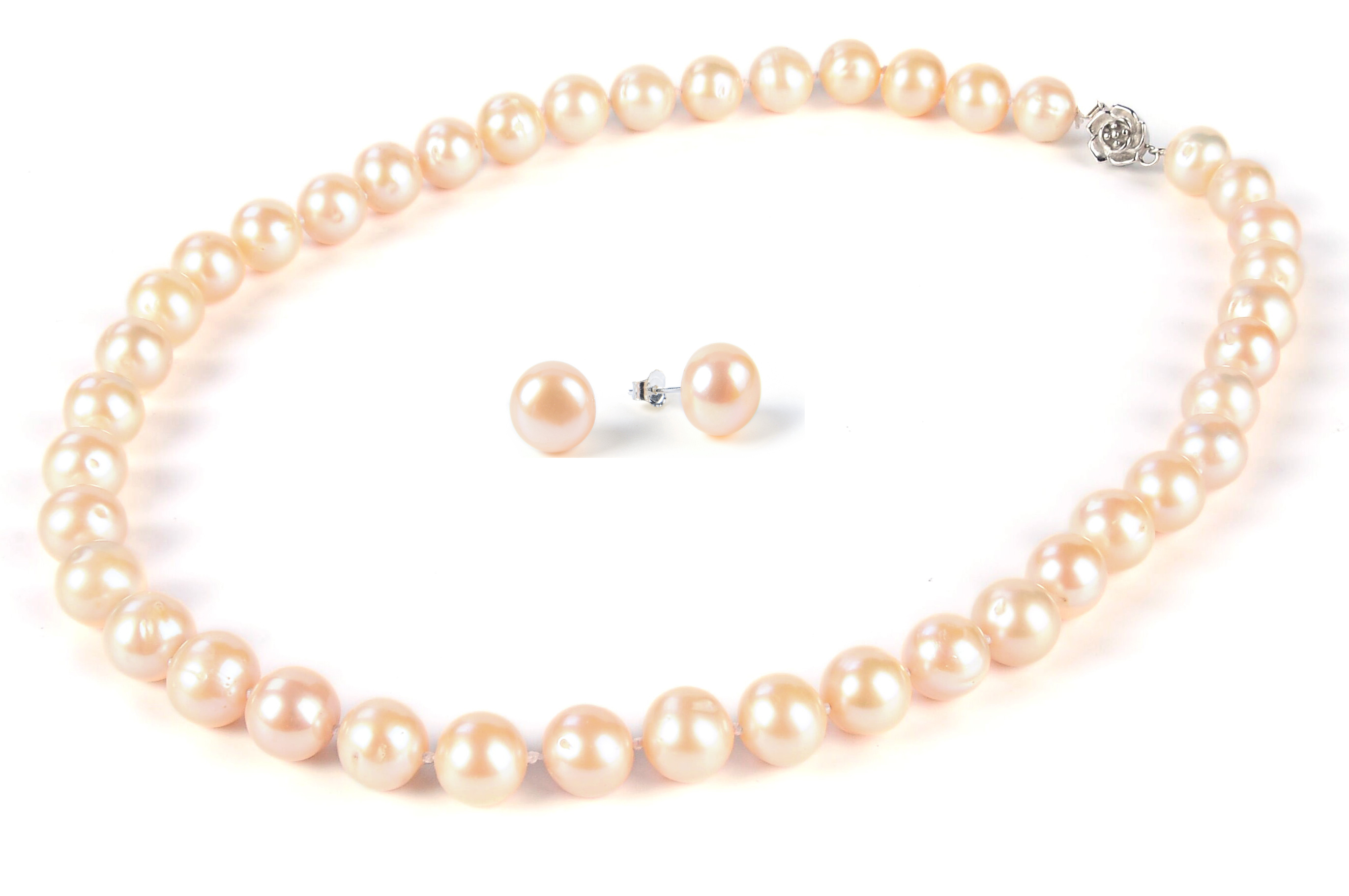 pearl pink necklace and freshwater estate pearls s rau m jewelry white antiques