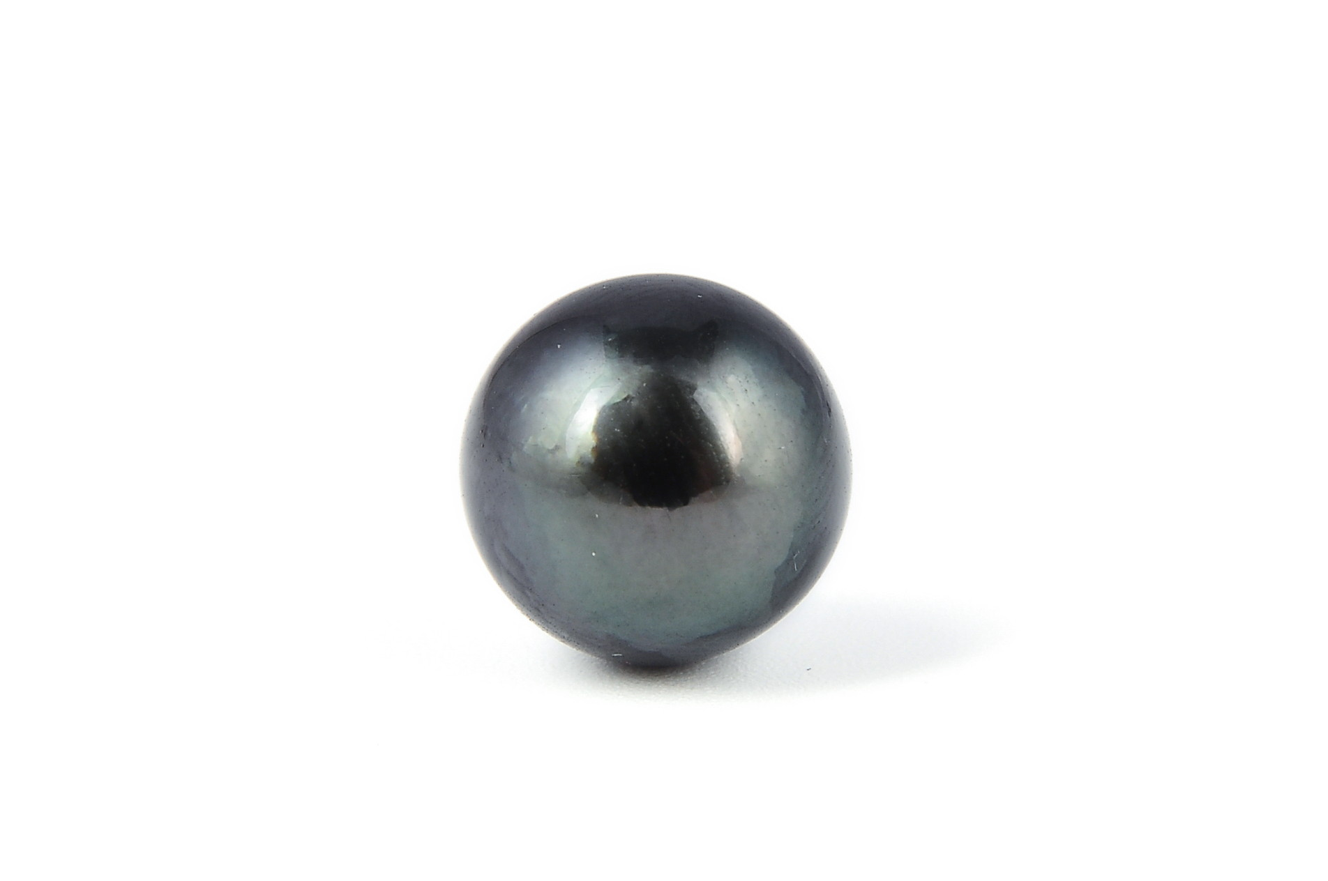 11.8 mm AAA- Half drilled Black Tahitian Loose Pearl Bead - 0.8mm hole - ls314