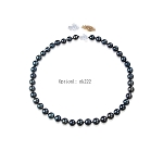 9.5 - 10.5mm Dyed Black AAA- South Sea Pearl Necklaces Strands  - NT1