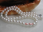 7.5 mm AAA- Quality White Akoya Cultured Pearl Necklace -nk6