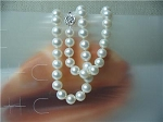 Huge 12mm Lustrous AAA- White Freshwater Pearl Necklace 925 silver clasp -nk109