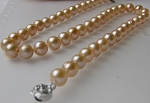 Huge 10 mm AAA 100% Natural Pink Pearl Necklace - nk47