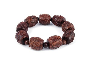 20mm Hand Engraved Agarwood Eaglewood Chenxiang Beaded Bracelet ???? br-cx10