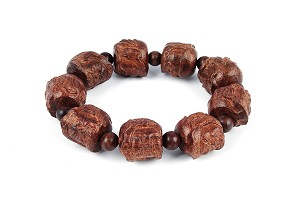 20mm Hand Engraved Agarwood Eaglewood Chenxiang Beaded Bracelet - ?? -br-cx12