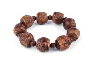 20mm Hand Engraved Agarwood Eaglewood Chenxiang Beaded Bracelet ?? br-cx8