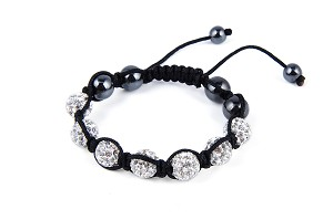 10mm Austrian Crystal Disco Ball Bracelet - Various colors - f-br11