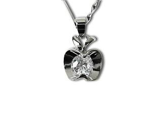 Austrian crystal apple pendant necklace f nk3 aloadofball Images