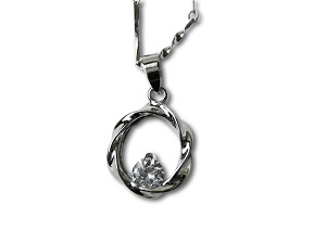 Austrian Crystal Pendant Necklace - f-nk4