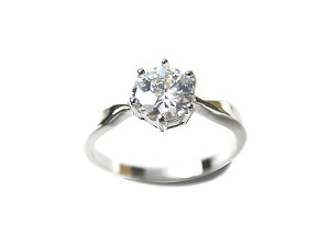 Diamond Cz Solitaire Ring - Various sizes - f-rg1a