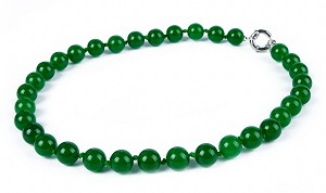 Beautiful 12mm Genuine Malay Jade Necklace -nk-jd3-s12
