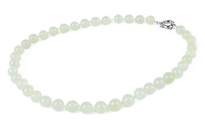 Natural Cream Chinese Jade Necklace -nk-jd4