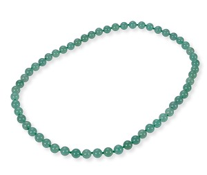 "25"" Green Natural Chinese Jade Strand Matinee Necklace 10mm -nk-jd13"