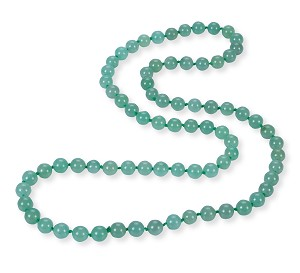 "34"" Natural Green Chinese Jade Strand Opera Necklace 10mm -nk-jd14"