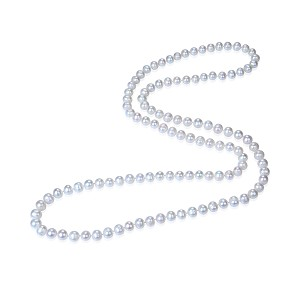 "52"" long Huge 12mm Lustrous AAA- White Freshwater Pearl Strand Rope Necklace - nk110"