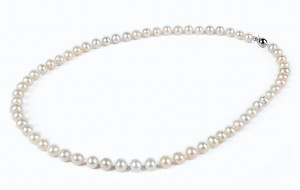 6.5 - 7.5 mm Light Pink Freshwater Pearl Strand Necklace -nk113