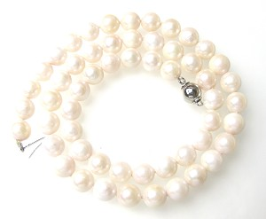 7.5mm AA- White Akoya Cultured Pearl Strand Sku#: nk119