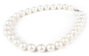 Huge 15.4mm AA+ Natural Australia South Sea White Pearl Necklace Strand -nk203
