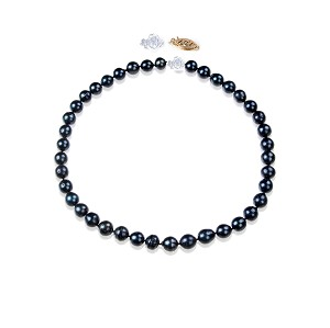 10.5mm AA+ Genuine South Sea Pearl Necklace Strand Dyed Black -nk223