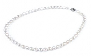 7mm AAA- White Saltwater Cultured Akoya Pearl Necklace Sku#: nk8