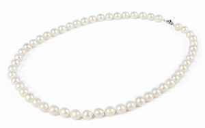 7.5mm AA Light Cream Saltwater Cultured Akoya Pearl Necklace Sku#: nk95